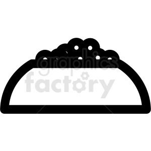 dog food bowl outline vector icon clipart