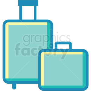 luggage suitcase icons clipart. Commercial use image # 409694