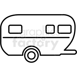 camper trailer icon clipart outline clipart. Commercial use image # 409695