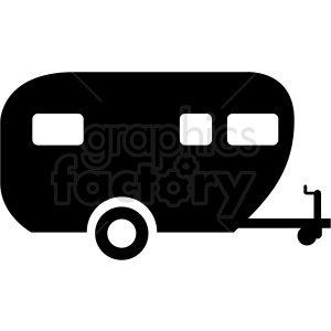 vector camper trailer icon clipart clipart. Royalty-free image # 409700