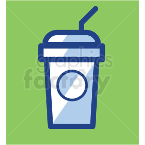 ice coffee cup vector icons