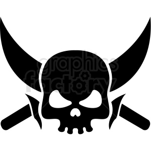jolly roger skull and sword vector clipart clipart. Commercial use image # 409736