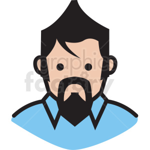 man avatar vector clipart clipart. Royalty-free icon # 409746