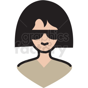 white woman avatar vector clipart clipart. Royalty-free image # 409761