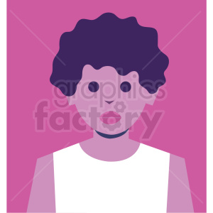 female avatar pink background vector icon clipart. Royalty-free icon # 409770