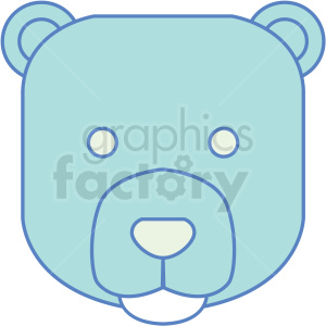 bear icon clipart. Commercial use image # 409786