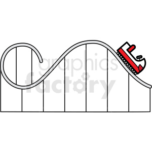 carnival roller coaster ride icon clipart. Royalty-free image # 409926