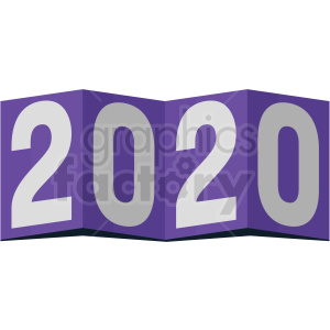 2020 card new year clipart no background clipart. Commercial use image # 410031