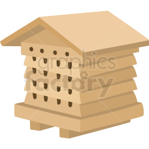 beehive house vector clipart no background