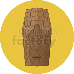 beehive design vector yellow background clipart. Royalty-free image # 410074