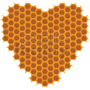 heart shaped honeycomb vector clipart no background clipart. Royalty-free image # 410075