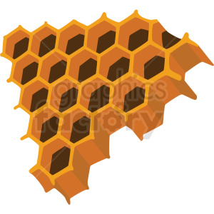 honeycomb piece vector clipart no background clipart. Royalty-free image # 410082