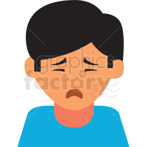 boy coughing vector icon
