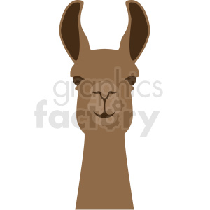 llama head no background clipart. Commercial use icon # 410138