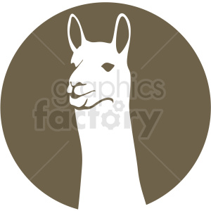 llama on brown background