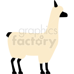 cartoon llama vector clipart. Royalty-free image # 410152