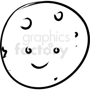 moon drawing vector icon clipart. Royalty-free image # 410209