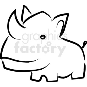 rhino drawing vector icon clipart. Commercial use image # 410231