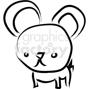 mouse drawing vector icon clipart. Royalty-free image # 410240