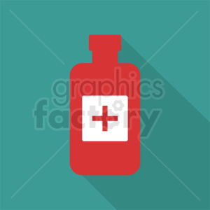 medication bottle aqua background clipart. Commercial use image # 410310