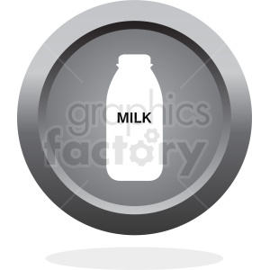bottle of milk button vector clipart. Commercial use image # 410323