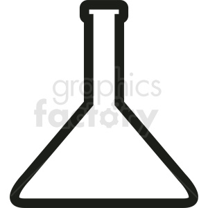 science beaker outline vector clipart. Commercial use image # 410342