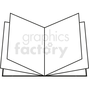 vector open book outline clipart. Royalty-free image # 410365