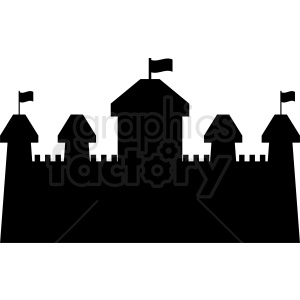 castle silhouette outline vector clipart clipart. Royalty-free image # 410388