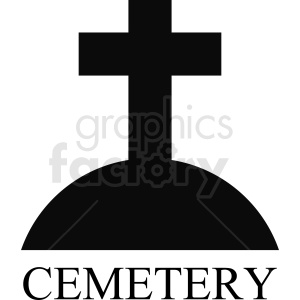 cemetery vector design clipart. Royalty-free image # 410420