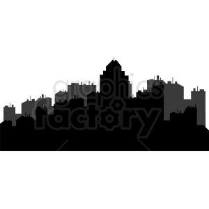 large city skyline vector clipart clipart. Royalty-free image # 410423