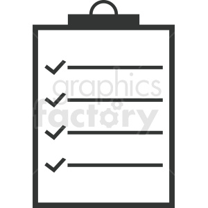 vector to do list outline clipart. Commercial use image # 410465