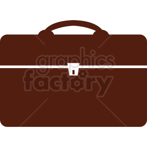 vector briefcase outline