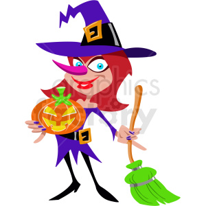 cartoon witch clipart. Commercial use image # 410555
