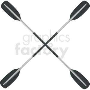 crossed kayak paddles vector clipart clipart. Royalty-free image # 410605