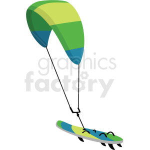 sky surfing vector clipart clipart. Commercial use image # 410610