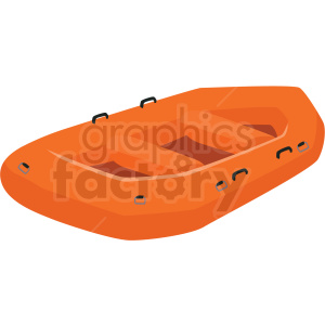 inflatable water raft vector clipart clipart. Royalty-free image # 410615
