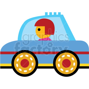 cartoon family car vector icon