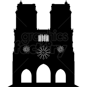 Notre Dame vector design clipart. Royalty-free image # 410721