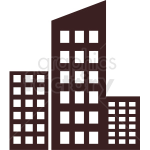 office buildings vector clipart