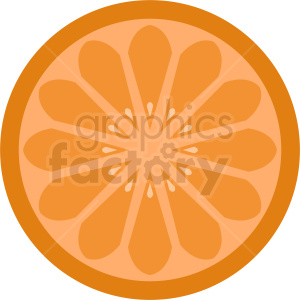 sliced orange vector clipart clipart. Royalty-free image # 410793