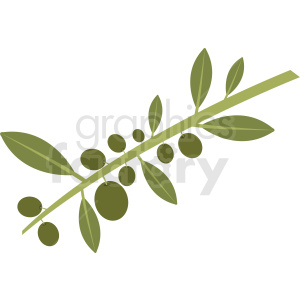 olive branch vector design clipart. Commercial use image # 410802