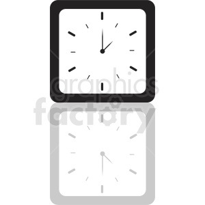 vector square clock clipart clipart. Royalty-free image # 410821
