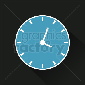 time clock on dark background icon