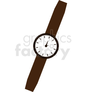 vector wrist watch clipart. Royalty-free image # 410830
