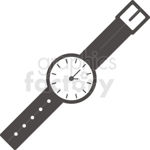 vector wrist watch clipart