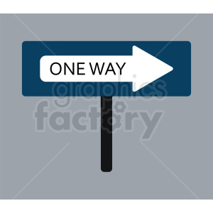 one way sign icon clipart. Commercial use image # 410848
