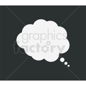 speech cloud bubble vector clipart on dark background clipart. Royalty-free image # 410853