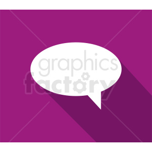 speech bubble vector clipart on pink background