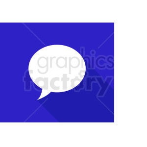 speech bubble on blue background vector clipart clipart. Commercial use image # 410879