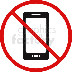 no electronic devices symbol clipart. Royalty-free image # 410881